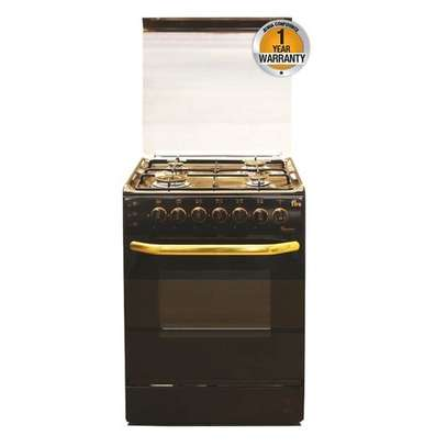 Ramtons EB/302-5693 - 4 Gas Roti + Auto Ignition Cooker- Brown.