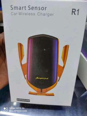 Smart sensor car wireless charger phone holder image 1