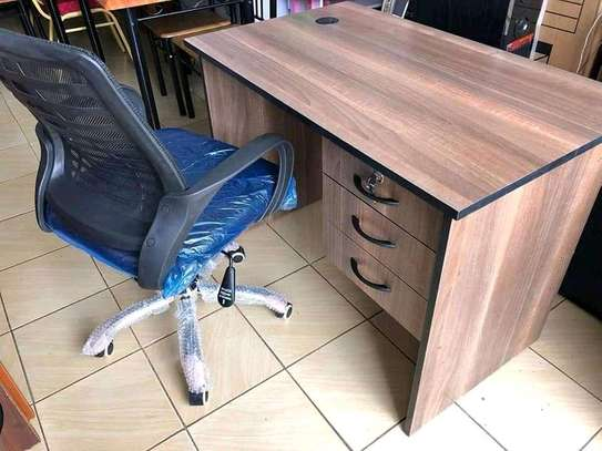 Desk and a chair