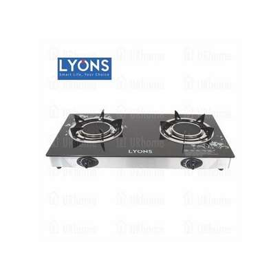 Lyons GS005- 2 Burner - Glass top and ifrared double burner - Black image 1