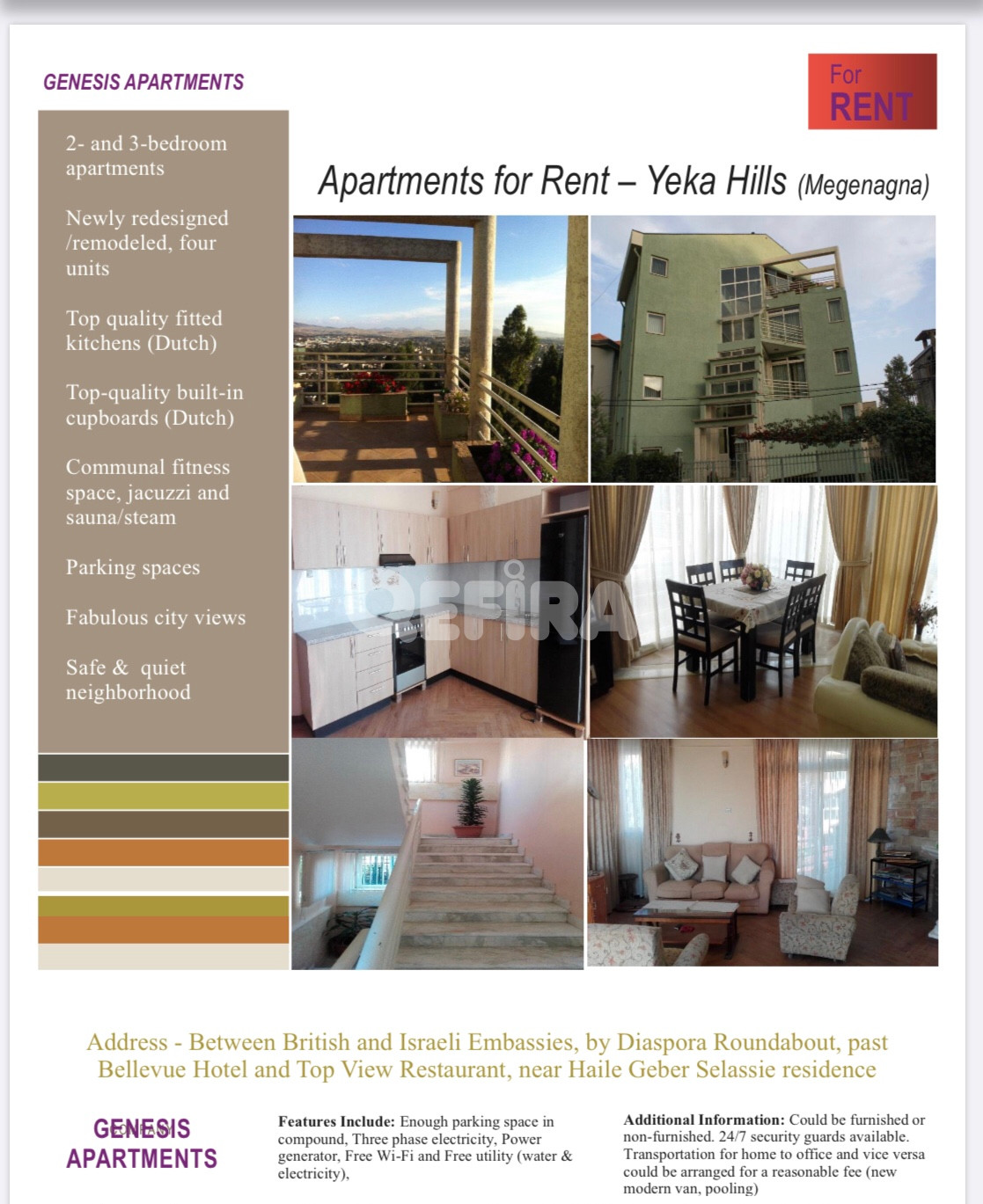 Apartments For Rent (Yeka Hills Megenagna) In Addis Ababa