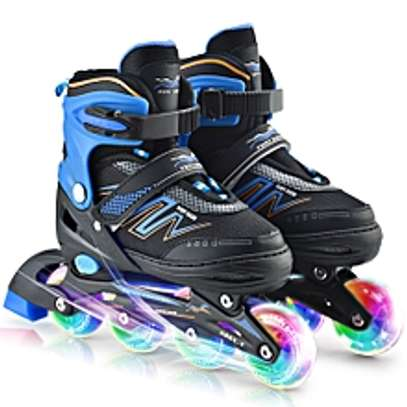 Adjustable Inline Skates with Illuminating Wheels For Kids image 1