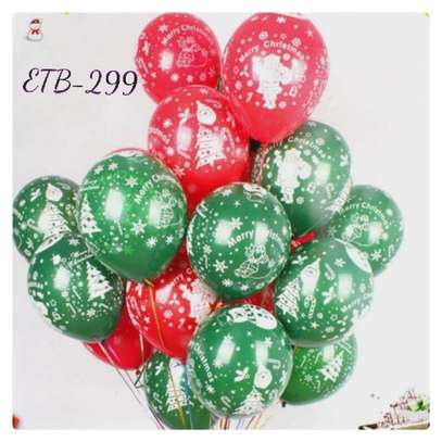 20 PC Christmas New Year Print Ballon Set