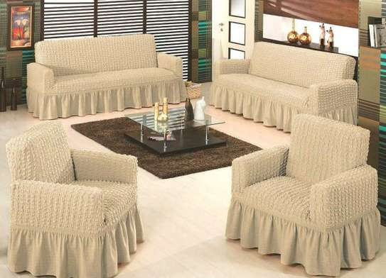 Easy Fit Stretch 3 Seater Sofa Covers Curly,Turk,  Solid Color Stretch Elastic Slip Resistant