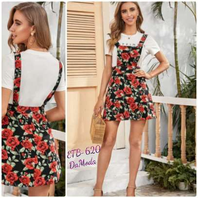 Large Floral Pinafore Dress Without Top image 1