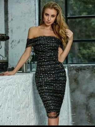Sequin Off Shoulder Dress image 1
