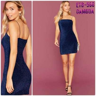 Fitted Glitter Cami Dress