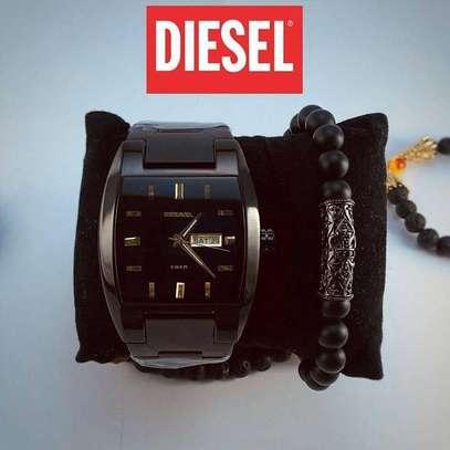 Diesel Watch + Antique Black Panther Bracelet image 1