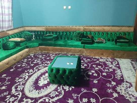 Green Arabian Majlis With Table