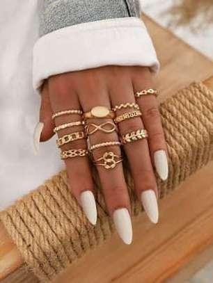 5 Piece Fashion Rings image 1