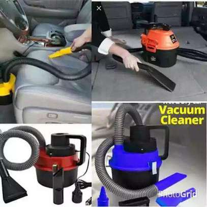 Portable car wet and dry vaccum cleaner