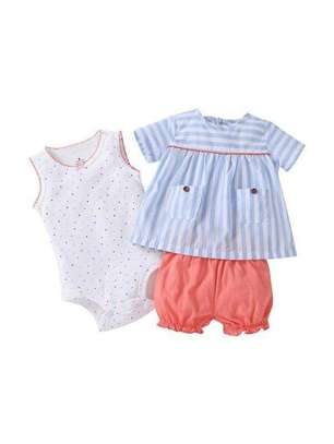 White Blue And Red New Fashion Kids Full Dress