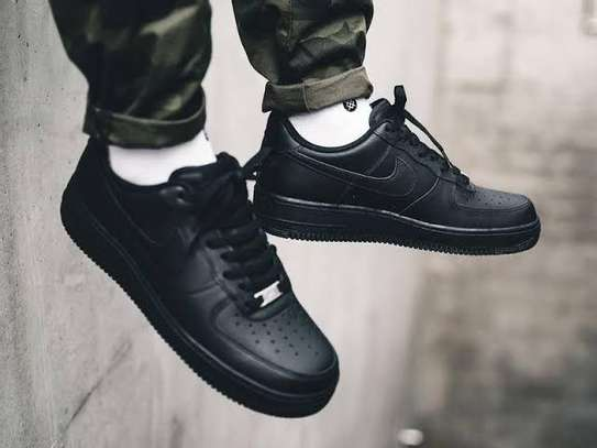 Black Nike Air Force Men Shoes