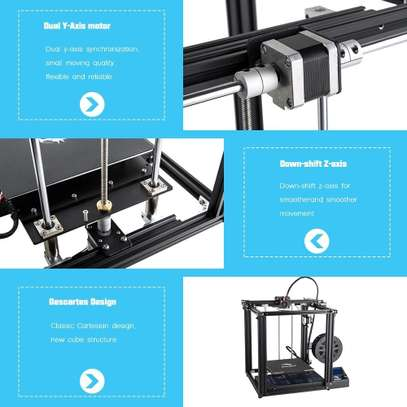 CREALITY Ender-5 3D Printer; Dual Y-axis Motors; Magnetic Build Plate; Power off Resume Printing; Enclosed Structure image 6