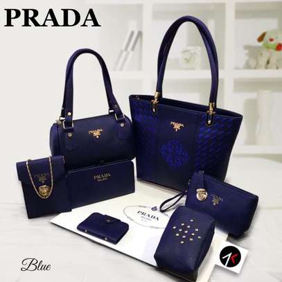 Assorted Colors Prada 7 Pcs Combo Handbag