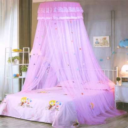 Easy to Install Kids Baby Bedding Dome Bed Netting Canopy  Lace Bed Canopy Dome hanging mosquito net Girls Room Decor image 3