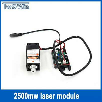 2500mw Laser Module 450NM Focusing Blue Laser Head Laser Engraving with Cutting TTL Module 2.5w Laser Tube + Protect Googles