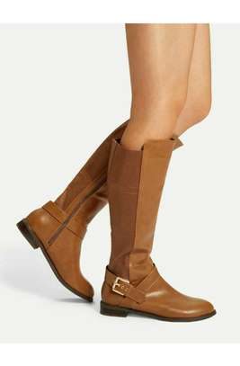 Buckle Decor Knee High Boots image 2