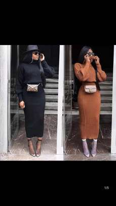 Knitted Turtleneck with Skirt