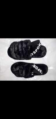 Flat furry shoe image 1