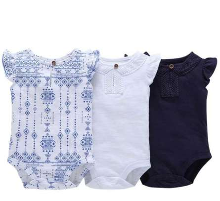 3 Pcs Baby Girl Tribal print Body Suit