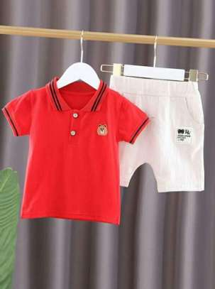 Red And White New Fashion Kids Body And Short Clothe