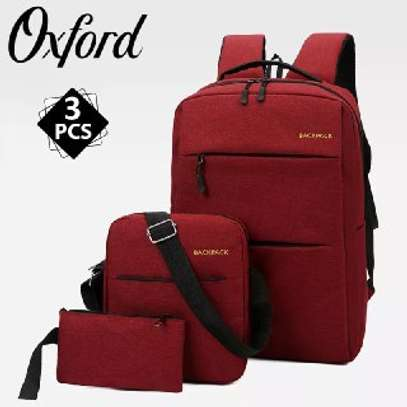 Backpack quality bag  3 pcs  price 1299 free delivery contact as image 4