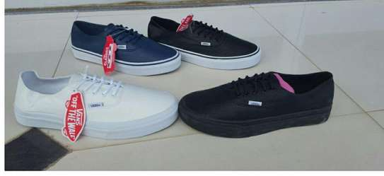 Assorted Colors Leather Vans Shoes image 1