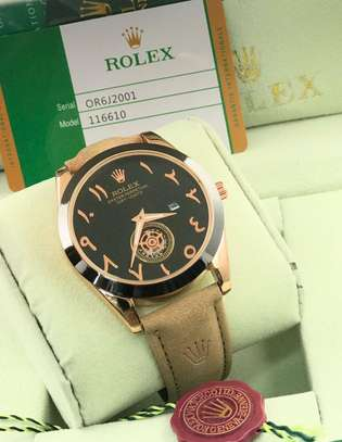 Rolex Leather Straps Watch image 1