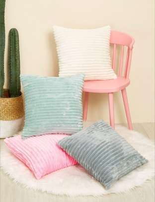 Solid Plush Cushion Cover 1Pcs