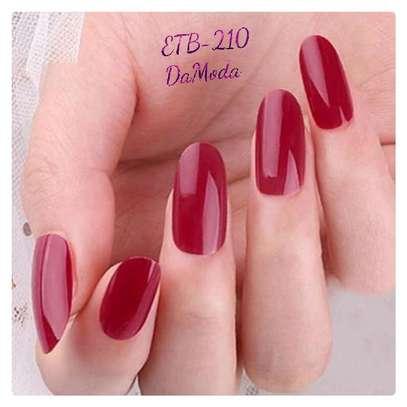 24 Pcs Solid Fake Nail with 1 Sheet Tape image 1
