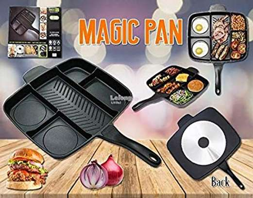 Majic Divided Frying Pan for All-in-One Cooked Breakfast & More! 32x38cm