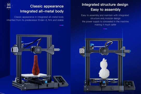 CREALITY Ender-3 V2 3D Printer; Mainboard With silent TMC2208 Stepper Drivers; New UI & 4.3 Inch Color LCD; Carborundum Glass Bed 3D Printer image 3