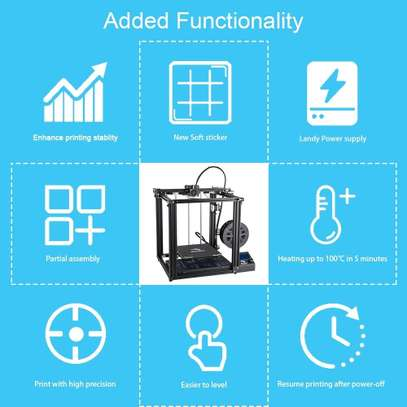 CREALITY Ender-5 3D Printer; Dual Y-axis Motors; Magnetic Build Plate; Power off Resume Printing; Enclosed Structure image 3