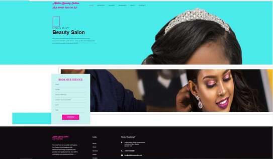 Beauty Salon Website With Online Booking Feature