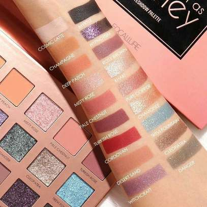 Focallure Sweet As Honey 18 colors Eyeshadow Palette-Metallaic and Matte Shades