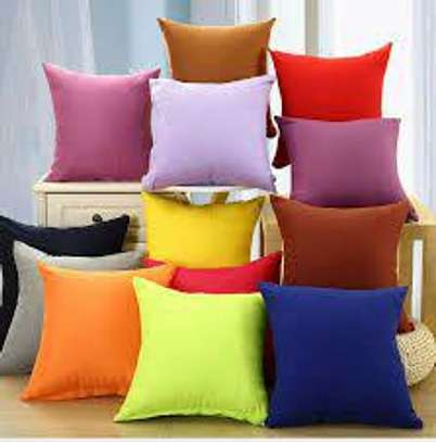 40 x 40 Decorative Pillows Solid Plain Red Blue Green Gray filled Cushion Bed Sofa Chair Seat image 5