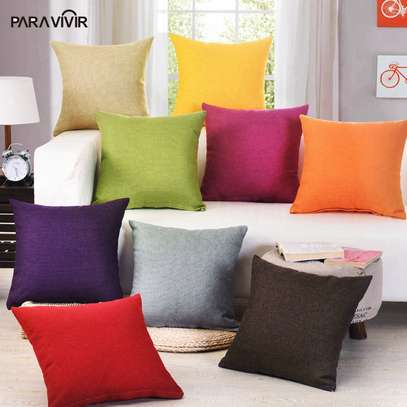 40 x 40 Decorative Pillows Solid Plain Red Blue Green Gray filled Cushion Bed Sofa Chair Seat image 6