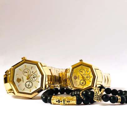 Versace Couple Watch Plus Bracelets