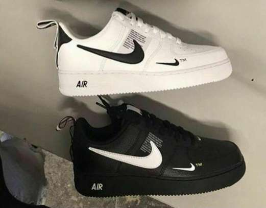 Nike Air Force Shoes(Black and White) image 1