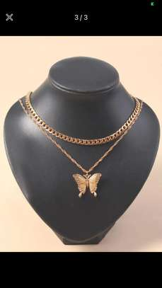 2 Pcs Gold Butterfly Charm Necklace image 1