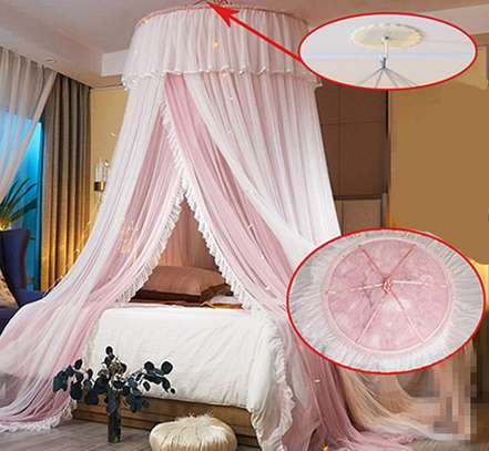 Elegant Lace Round Bed Curtains image 5