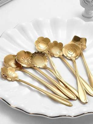 8 Pcs Stainless Steel Flower Spoon