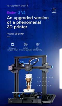CREALITY Ender-3 V2 3D Printer; Mainboard With silent TMC2208 Stepper Drivers; New UI & 4.3 Inch Color LCD; Carborundum Glass Bed 3D Printer image 1