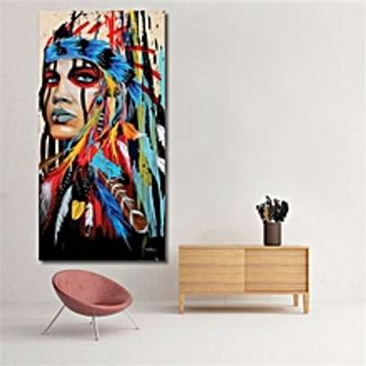 Woman Canvas Oil Painting Print Picture Home Wall Art