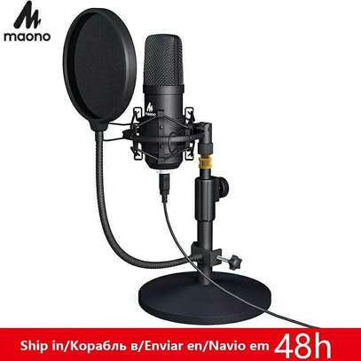 MAONO AU-A04T USB Microphone Kit Professional Podcast Streaming Microphone Condenser Studio Mic for Computer YouTube Gaming Recording