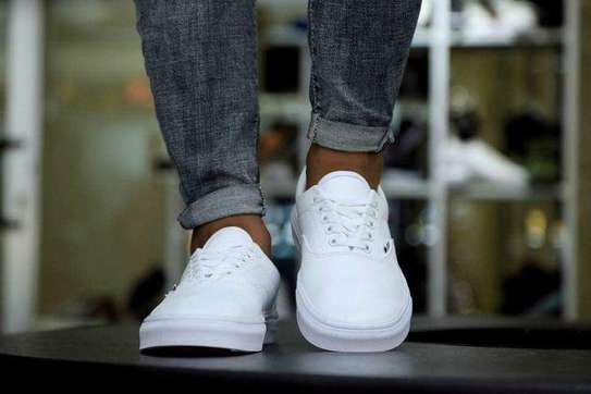 Vans Leather White Shoes image 1