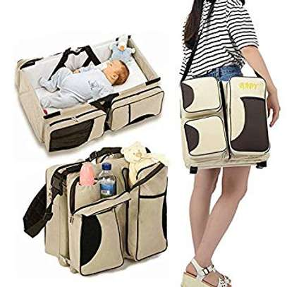 Portable Baby Bed Infant Travel Bed 3 in 1 Multi-Functional Folding Bag Portable Bassinet Crib Gift for Traveling