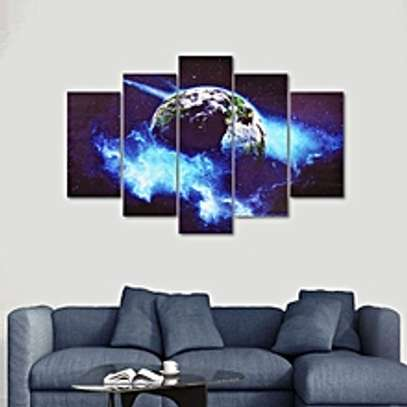 Modern Canvas Painting Earth Universe Picture Wall