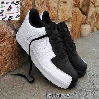 Black and White Nike Air Force Shoes